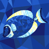 Bright sea fish in abstract technique Royalty Free Stock Image
