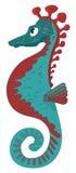 Bright sea horse illustration Royalty Free Stock Photos