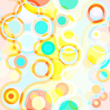 Bright seamless abstract background with circles. And curved lines. Eps10 Vector Illustration