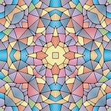 Bright seamless abstract pattern, kaleidoscope. Vector design template for art stock illustration
