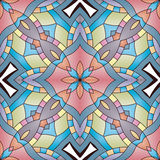 Bright seamless abstract pattern, mandala. stock illustration