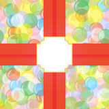 Bright seamless background with balloons, circles, bubbles with a field for the text. Festive, joyful, abstract pattern. For greeting cards, boxes, packages Royalty Free Stock Photos