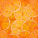 Bright seamless background with oranges Royalty Free Stock Images
