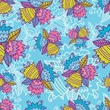 Bright Seamless Bell Flowers Pattern Stock Photo