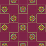 Bright seamless checkered pattern with a lilac background Royalty Free Stock Photography