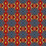 Bright seamless ethnic pattern with diamonds Royalty Free Stock Images