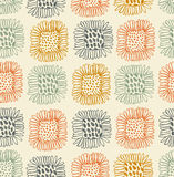 Bright seamless floral pattern. Decorative cute background with sunflowers. Abstract hand drawn doodle texture Royalty Free Stock Photo