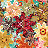 Bright seamless floral pattern. Royalty Free Stock Photos