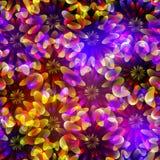 Bright seamless flowers Stock Photo