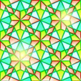 Bright seamless geometrical stained glass Stock Photos