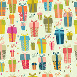 Bright Seamless gift boxes pattern Royalty Free Stock Photography