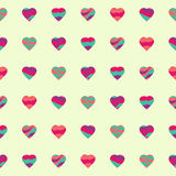 Bright seamless hearts Valentine vector background Royalty Free Stock Photo