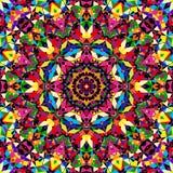 Bright seamless kaleidoscope pattern Stock Photo