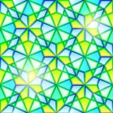 Bright seamless kaleidoscope stained glass Stock Photo