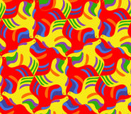 Bright  seamless mosaic pattern of flying pigeons. Royalty Free Stock Image