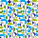 Bright seamless mosaic pattern with geometric figures Royalty Free Stock Images