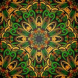 Bright seamless ornament in style khokhloma. Stock Photo