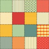 Bright seamless patchwork background with different patterns. Stock Image