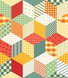 Bright seamless patchwork pattern. Stock Images