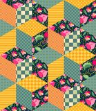 Bright seamless patchwork pattern from different colorful elements. Royalty Free Stock Photography
