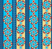Bright seamless pattern with abstract flowers Stock Image