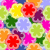 Bright seamless pattern with abstract flowers. Royalty Free Stock Photos