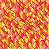 Bright seamless pattern with autumn leaves Stock Images
