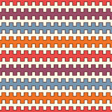 Bright seamless pattern with battlement curved lines.  Stock Photography