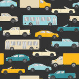 Bright seamless pattern with cars Royalty Free Stock Images
