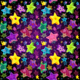 Bright seamless pattern Christmas Star Stock Photos