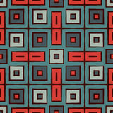 Bright seamless pattern in ethnic style. Repeated squares ornamental abstract geometric Royalty Free Stock Image