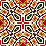 Bright seamless pattern with geometric ornament in Christmas traditional colors. Ethnic and tribal motifs. Bright seamless pattern with geometric ornament in Stock Image