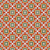Bright seamless pattern with geometric ornament in Christmas traditional colors. Ethnic and tribal motifs. Bright seamless pattern with geometric ornament in Royalty Free Stock Image