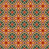 Bright seamless pattern with geometric ornament in Christmas traditional colors. Ethnic and tribal motifs. Bright seamless pattern with geometric ornament in Stock Photo