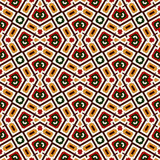 Bright seamless pattern with geometric ornament in Christmas traditional colors. Ethnic and tribal motifs. Bright seamless pattern with geometric ornament in Royalty Free Stock Photo