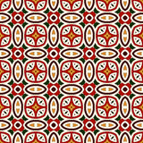 Bright seamless pattern with geometric ornament in Christmas traditional colors. Ethnic and tribal motifs. Bright seamless pattern with geometric ornament in Royalty Free Stock Images