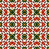 Bright seamless pattern with geometric ornament in Christmas traditional colors. Ethnic and tribal motifs. Bright seamless pattern with geometric ornament in Stock Images