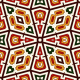 Bright seamless pattern with geometric ornament in Christmas traditional colors. Ethnic and tribal motifs. Bright seamless pattern with geometric ornament in Royalty Free Stock Photos