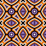Bright seamless pattern with geometric ornament in Halloween traditional colors. Colorful abstract background. Bright seamless pattern in Halloween traditional Royalty Free Stock Photos