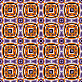 Bright seamless pattern with geometric ornament in Halloween traditional colors. Colorful abstract background. Bright seamless pattern in Halloween traditional Royalty Free Stock Images
