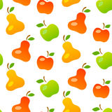 Bright seamless pattern of mellow fruits Stock Image