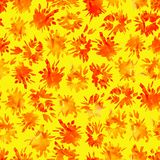 Bright Seamless pattern with painted flashes and blots. royalty free illustration