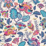 Bright seamless pattern in paisley style Royalty Free Stock Photos