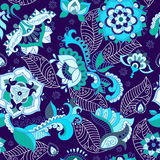 Bright seamless pattern in paisley style Stock Photography