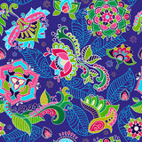 Bright seamless pattern in paisley style Stock Images
