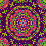 Bright seamless pattern in paisley style Royalty Free Stock Image