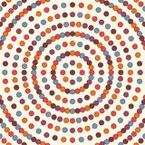 Bright seamless pattern with repeated circles. Bubble motif. Geometric abstract background. Modern surface texture. Bright seamless pattern with repeated Stock Photography