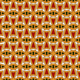 Bright seamless pattern with repeated geometric forms. Ornamental abstract background. Ethnic and tribal motifs. Royalty Free Stock Images