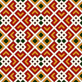 Bright seamless pattern with repeated geometric forms. Ornamental abstract background. Ethnic and tribal motifs. Stock Photos