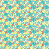 Bright seamless pattern in retro style,  backgroun Royalty Free Stock Images